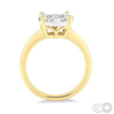 14k gold diamond enagement ring