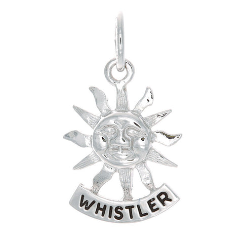 Sterling Silver Whistler Sun Charm