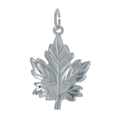 Sterling Silver Large Maple Leaf