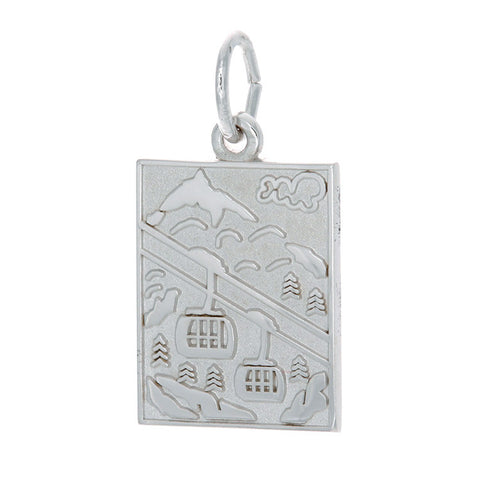 Sterling Silver Mountain Scene Charm