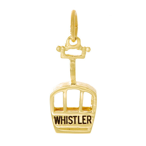 10k Yellow Gold Whistler/Blackcomb Gondola Charm