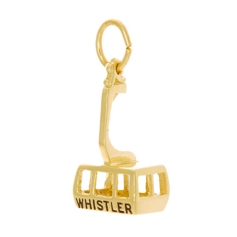 10k Yellow Gold Glass Bottom 'Peak2Peak' Charm