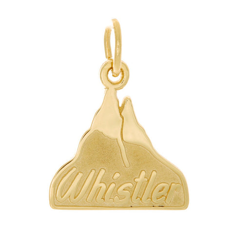 10k Yellow Gold Whistler Mountain Charm