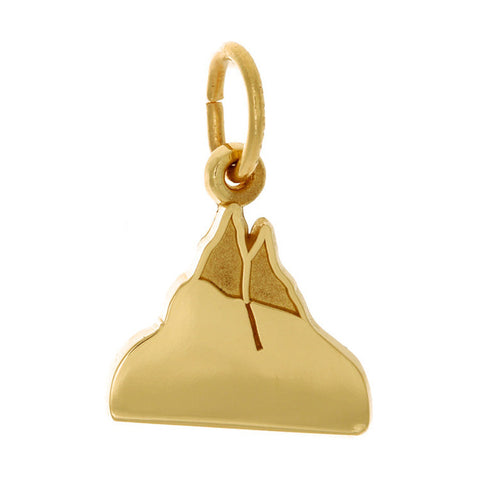 10k Yellow Gold Mountain Charm