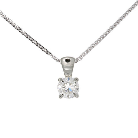 18k Gold 0.70ct Solitaire Diamond Pendant