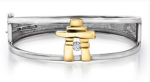 Inukshuk Bangle - Canadian Diamond
