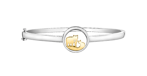 14k Gold Jeanie Bear Bangle