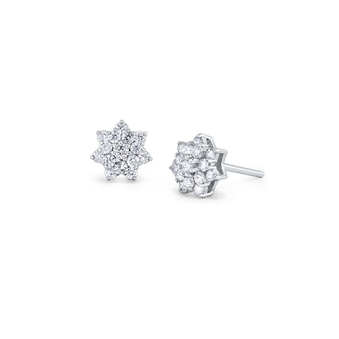 14k Diamond Snowflake Earrings