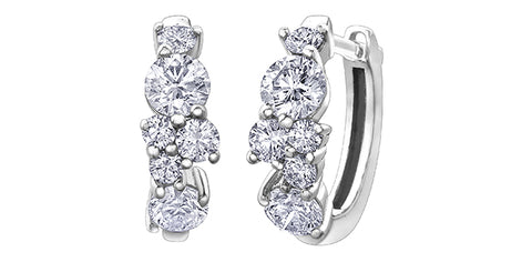 18k Gold Canadian Diamond Earrings