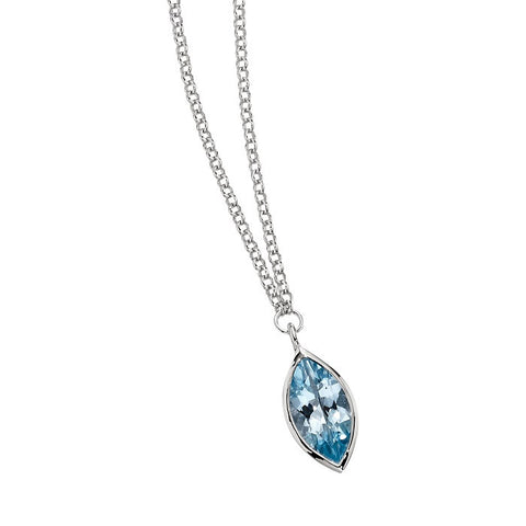 Elle - Sterling Silver Blue Topaz Necklace