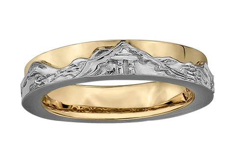 Inukshuk Mountain Scene Ring