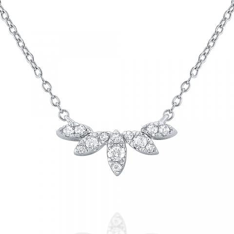 14k Diamond Tiara Necklace