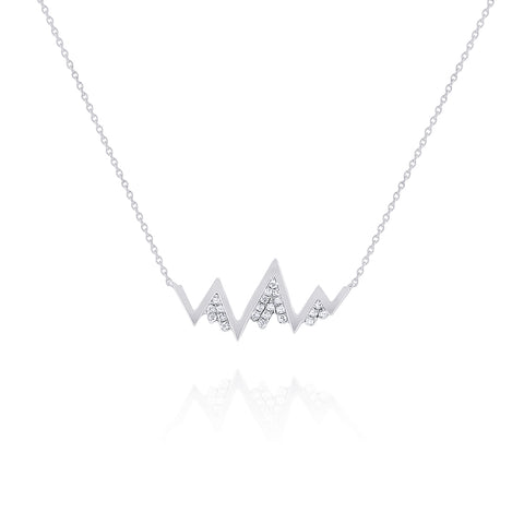 14k Diamond Whistler Mountain Necklace