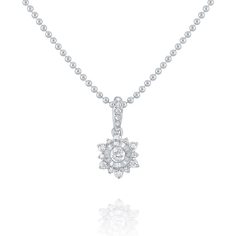 14k Gold Diamond Snowflake Necklace