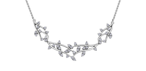 10k Diamond Branch Necklace