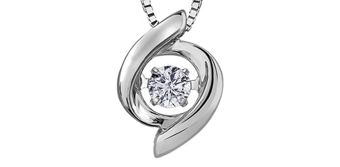 10k Gold Solitaire Diamond Pendant