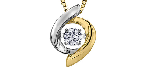 10k Solitaire Diamond Pendant