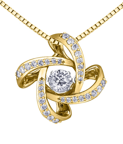 14k Canadian Diamond pendant