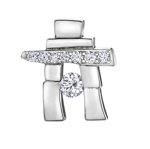 """25th Anniversary"" Canadian Diamond Inukshuk Pendant"