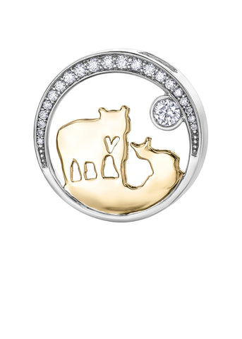 """25th Anniversary"" 14k Canadian Gold Jeanie Bear Pendant with Canadian Diamond - Medium"