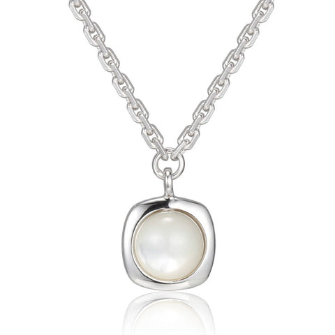 Elle - Sterling Silver Mother Of Pearl Necklace