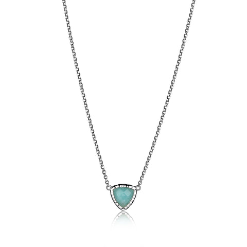 Elle - Sterling Silver Amazonite Necklace