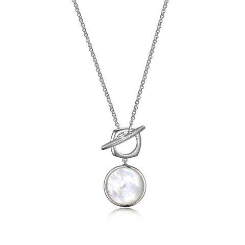 "Elle - Sterling Silver ""Sunrise"" Mother Of Pearl Necklace"