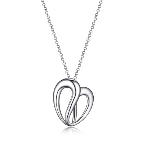 "Elle - Sterling Silver ""Caramel"" Heart Necklace"
