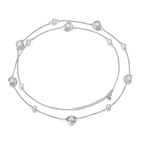 "Elle - Sterling Silver ""Pearls"" Necklace"