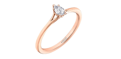 14k Gold Canadian Diamond Engagement Ring