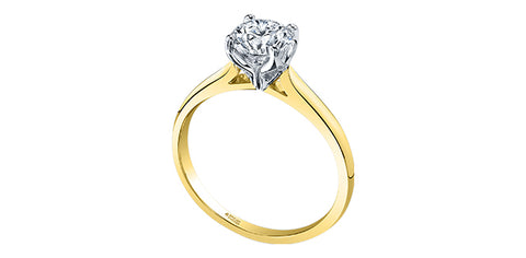 18k Canadian Diamond Solitaire Engagement Ring