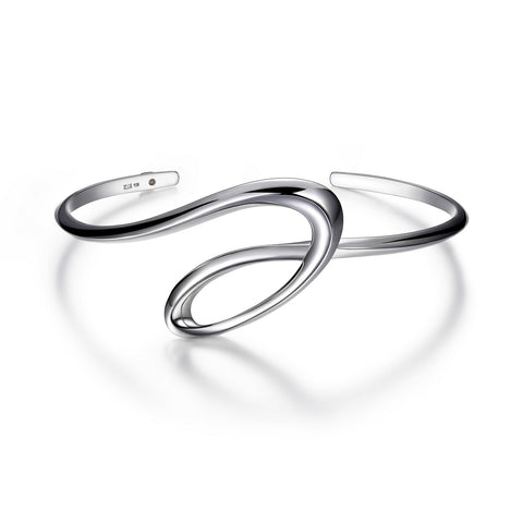 "Elle - Sterling Silver ""Eternity"" Cuff"