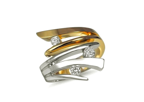 14k Gold Canadian Diamond Fireworks Ring