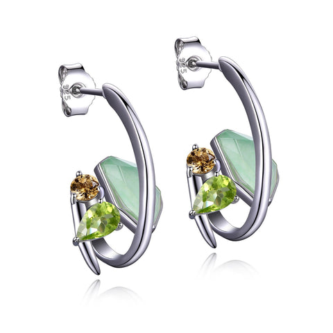 "Elle - Sterling Silver ""Bouquet"" Earrings"