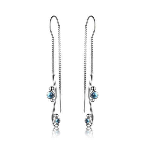 "Elle - Sterling Silver ""Pixie Dust"" Drop Earrings"