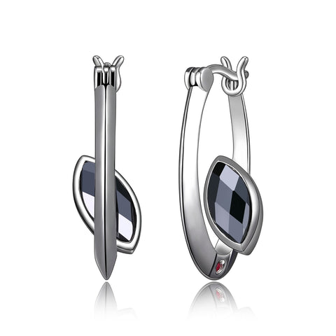 "Elle - Sterling Silver ""Blink"" Hematite Earrings"