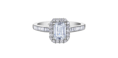 18k White Gold Canadian Diamond Engagement Ring
