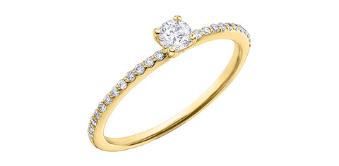 10k Canadian Diamond Solitaire Engagement Ring
