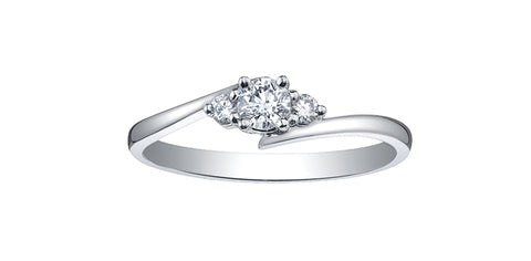 10k Gold Canadian Diamond Engagement Ring