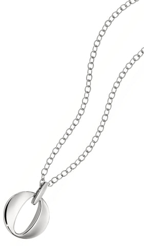Elle - Sterling Silver Open Circle Necklace