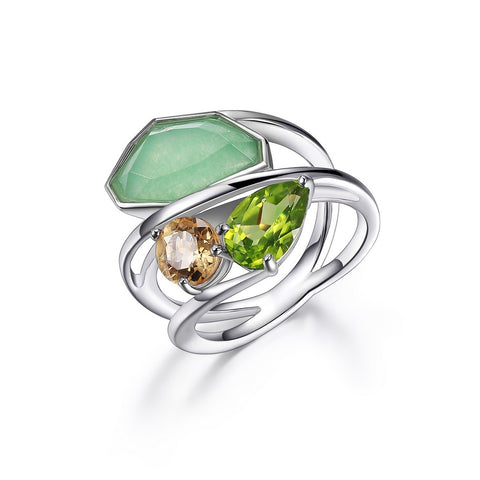 "Elle - Sterling Silver ""Bouquet"" Ring"