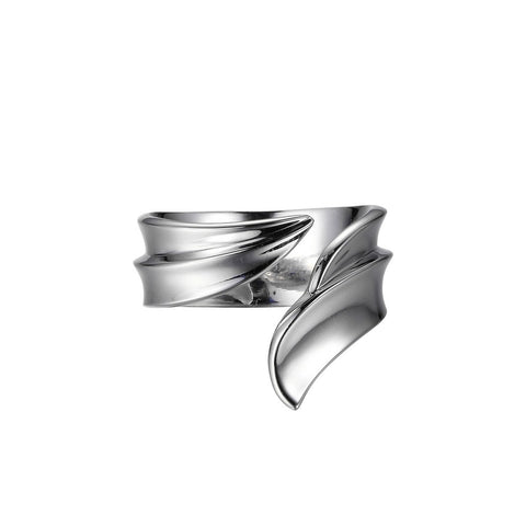 Elle - Sterling Silver Wave Ring