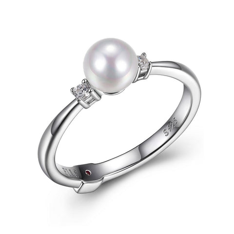 Elle - Sterling Silver Pearl Ring