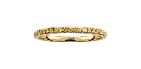 10k Yellow Diamond Wedding Band