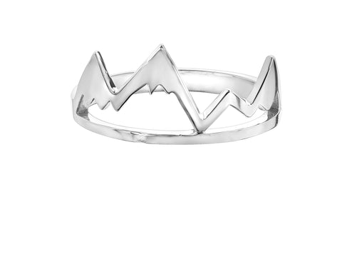 Sterling Silver Whistler mountain ring