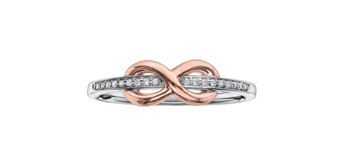 "10k Gold Diamond ""Infinity"" Ring"