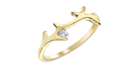 10k Gold Canadian Diamond Ring