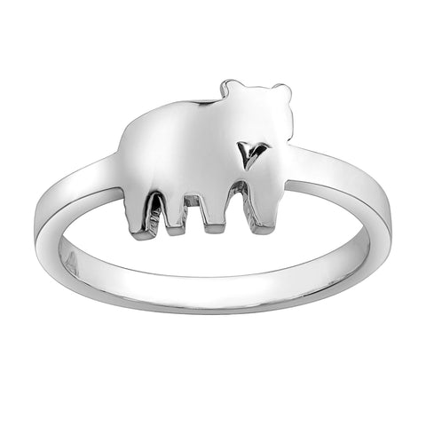 Sterling Silver Jeanie Bear Ring