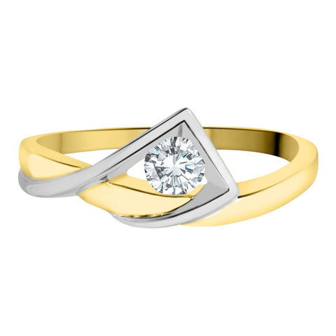 10k Canadian Diamond Mountain Buckle Ring