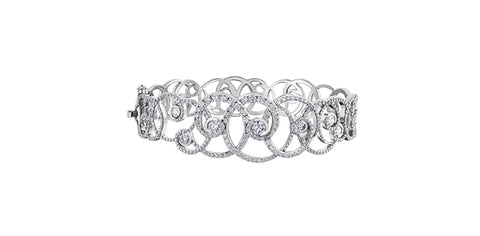 14k Canadian Diamond Snowstorm Bangle